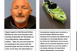 El cuerpo hallado en Formentera es de un kayakista desaparecido en Alicante
