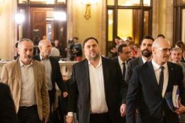 Junqueras, Turull, Romeva, Forn y Rull comparecen en el Parlament