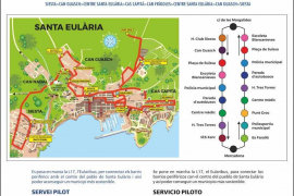 Santa Eulària expedirá las tarjetas de gratuidad y descuento para las líneas de autobús
