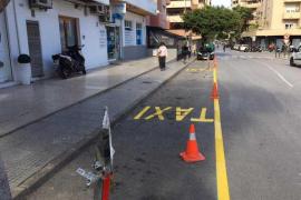 Empiezan a funcionar las nuevas paradas de taxi de Figueretas