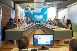 Momento de la votación de la declaración institucional aprobada por unanimidad