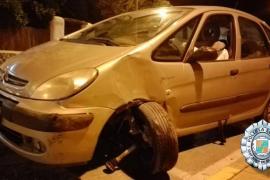Detenido un conductor que cuadrupliacaba la tasa de alcohol en Sant Antoni