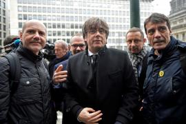 Carles Puigdemont a su llegada al juzgado